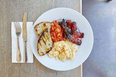 English breakfast at No.67 cafe restaurant London  #London #Camberwell #breakfast #fry #sausage #eggs #toast #FullEnglish
