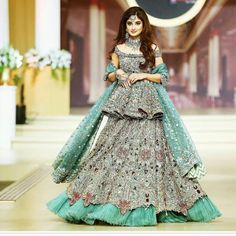 Listen to O rangreza full song (sajal ali & sahir ali bagga) by amme on Bridal Dresses 2017 Pakistani, Latest Bridal Dresses, Beautiful Pakistani Dresses, Walima Dress, Indian Bridal Outfits, Indian Bridal Fashion, Pakistani Dress Design, Bridal Lehenga, Asian Fashion