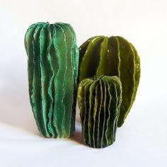 Cactus de Lina Cofán. Gres esmaltado en altas temperaturas