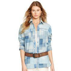 Patchwork Chambray Shirt - Polo Ralph Lauren Long-Sleeve - RalphLauren.com