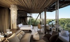 situated in the Kruger National Park, Singita Lebombo is a luxury design safari lodge. Singita Lebombo Lodge in South Africa offers stylish modern suites.