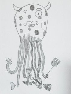 Entry by Reid Vermont (11 years old) http://www.anorakmagazine.com/blog/crazy-monsters-drawing-competition.html