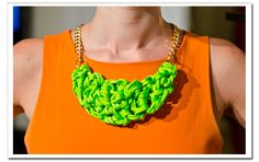 Neon knot necklace DIY