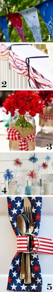 Entertaining Outdoors • Chic, on the Cheap! • Tips & Ideas! Including these 4th of July theme table ideas from 'I'm simply me'.