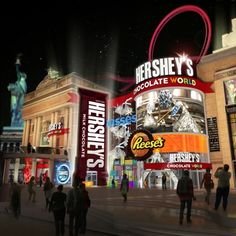 Hershey Chocolate World in Las Vegas.  Read the article in Candy Industry Magazine ...The opening of Hershey's Chocolate World in New York-New York Hotel & Casino is making Las Vegas a little sweeter...     http://www.candyindustry.com/articles/85733-hershey-to-open-chocolate-world-in-las-vegas