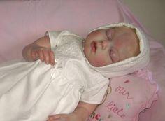 "Reborn Baby Toddler Doll ~ ""Arianna Asleep"" Kit by Reva Schick Reborn by Marilyn Costic-Kangas EMAIL: memorydolls@yahoo... FACEBOOK: Memory Dolls by Marilyn www.memorydolls.com"