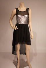 georgette high low dress with sequins on dress Estelle's Dressy Dresses in Farmingdale , NY Dressy Dresses, Special Occasion Dresses, High Low, Sequins, Prom, Fashion, Senior Prom, Moda, Stylish Dresses