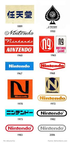 Nintendo's Logo over the years...