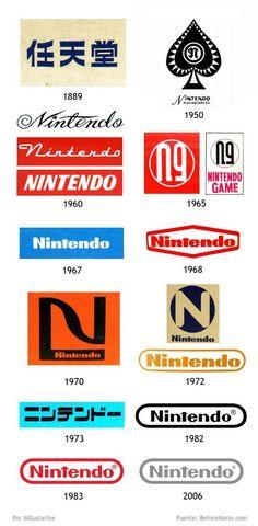 Nintendo's Logo over the years. I chose this for inspiration because i am a big Nintendo fan. #Nintendo #logo