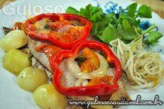 Receita saudável, italiana a Sardinha no Papelote ou Arenque, fácil, rápida, com alto teor de gordura insaturada, Potássio, vitamina A, valores nutricionais