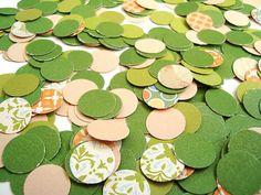 Green Beige Multicolor Confetti Table decor Dots 400 pcs by Wcards, $4.20