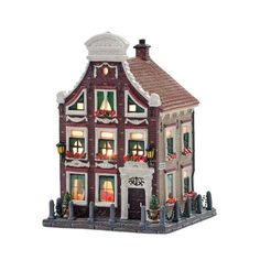 Christmas Gingerbread House, Victorian Christmas, Christmas Home, Gingerbread Houses, Villas, Seaside Village, Christmas Decorations, Holiday Decor, Miniature Houses