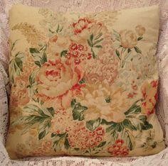 Ralph Lauren pillow cover GORGEOUS colors Rare vintage fabric