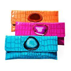 Fun colors! Agate Stone Clutches - Oprah.com