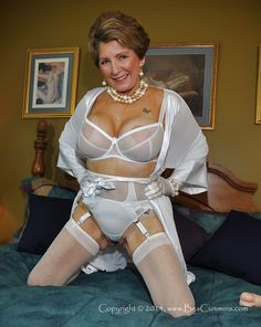 Mature panty girdle stockings