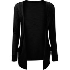 Vip Boutique Womens Black Boyfriend Pocket Cardigan ($6.99) ❤ liked on Polyvore