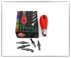 Essdee Lino cutters and handle.