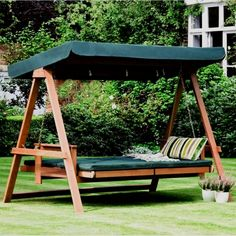 Would you like to have a swing in the garden, but also a comfortable bed where you can relax just like into a regular bed?  Read more: http://www.howtobuildahouseblog.com/suspended-beds-innovative-and-smart-solutions-for-your-home/#ixzz3D1xM0lE2