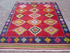 MODERN Bohemian Turkish Kilim Rug Carpet Handwoven Kilim by sofART