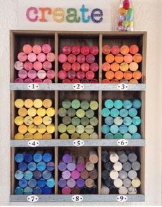 Paint storage inspiration by New Crafts, Home Crafts, Arts And Crafts, Paint Storage, Craft Storage, Craft Organization, Organizing Tips, Cricut Craft Room, Craft Rooms