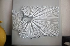Washington string art