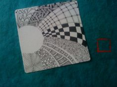 Nettetangles: Tiles    - #DRAW #ZENTANGLE #ZENDALA #TANGLE #DOODLE #BLACKWHITE #BLACKANDWHITE #SCHWARZWEISS
