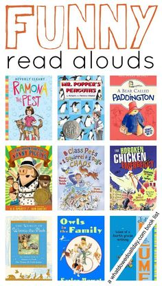 Funny books for kids that will make them laugh out loud. These titles are perfect for family read aloud time or for independent readers.