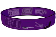VioletThe FlipBelt is a really simple but revolutionary product to go hands free. Made of machine-washable high tech Spandex-Lycra blend material with a single tubular pocket accessible from multi openings around the belts exterior. The openings lets you easily tuck in your phone, keys, gel packs, credit cards or whatever you may need for your workout. You then flip the belt inside out and everything gets locked in place.