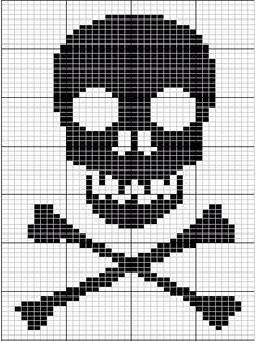 Skull And Cross Bones Knitting Chart From Breienmetplezier