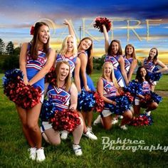 this would be fun to do with all of the 8th grade girls for their last pic together. Cheerleading poses