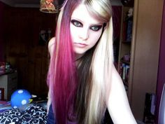 Hey everyone This is a scene kid hair and make up tutorial, requested by All products used are named in the video :) The necklace and bow are f. Scene Kids, Alternative Hair, Makeup Yourself, Kid Hair, Make Up, Hairstyle, Youtube, Videos, Headdress