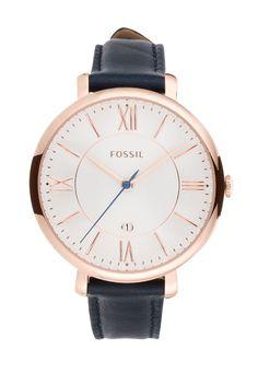 Eine Uhr in zeitlosem Design für ein klassisches Outfit. Fossil JAQUELINE - Uhr - blau für 119,95 € (26.11.15) versandkostenfrei bei Zalando bestellen.
