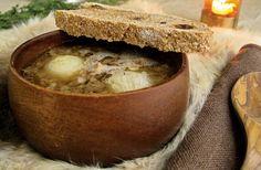 Onion ale broth