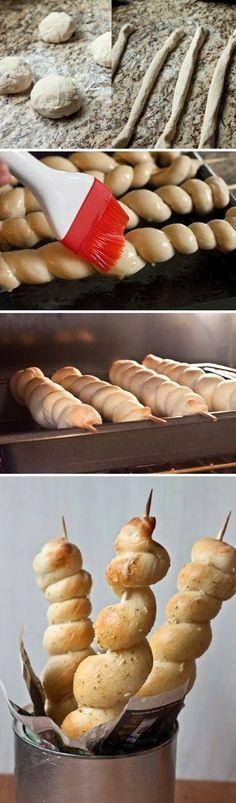 Buttery Bread Twists