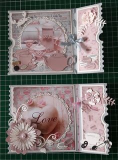 Ticketmal Voor Iris Fancy Fold Cards, Folded Cards, Scrapbook Paper Crafts, Scrapbooking, Ticket Card, Pop Up Box Cards, Shabby Chic Cards, Coffee Cards, Small Cards