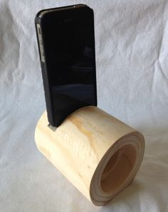 Wooden iPhone acoustic amplifier by shedinc on Etsy