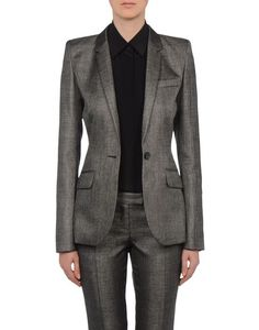 Women's Blazer Barbara Bui MASCULINE JACKET, silver sheen suit, custom tailored suit