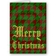 Christmas Houndstooth Card