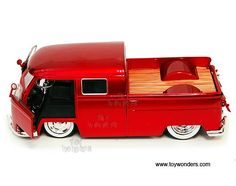 Jada Toys Bigtime Kustoms - Volkswagen Bus Pickup (1963, 1/24 scale diecast model car, Asstd.) 91251MT