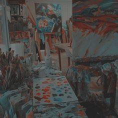 Aesthetic Grunge Tumblr, Art Hoe Aesthetic, Aesthetic Colors, Art Studio Room, Art Supplies Storage, Messy Art, New Art, Art Drawings, Art Projects