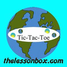The Lesson Box. Earth Day Tic-Tac-Toe- Math.