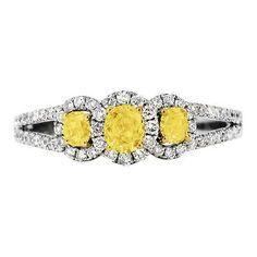 Yellow Three Stone Engagement Rings 580470dc4557