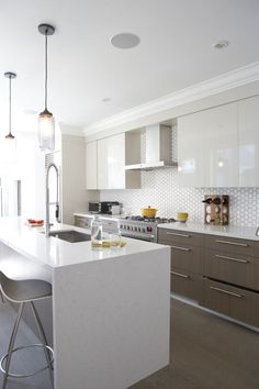 modern white backsplash tile - Google Search