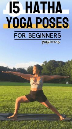 15 Hatha Yoga Poses for Beginners to practice at home. Love these poses because it makes it much easier to practice yoga instead of trying to turn myself into a pretzel. Hatha Yoga Poses, Vinyasa Yoga, Yoga Routine For Beginners, Mountain Pose, Thigh Muscles, Bridge Pose, Yoga Block, Types Of Yoga, Yoga Tips