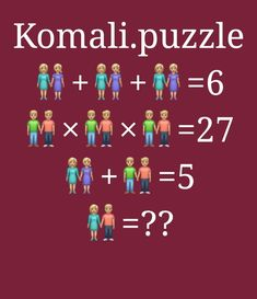 Math Puzzles Brain Teasers, Maths Puzzles, Logic Problems, Mind Puzzles, Kids Math Worksheets, Picture Puzzles, Wedding Tattoos, Math For Kids, Biotechnology