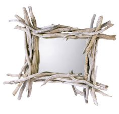 The experts at Ideal Home give your their advice on the best products to buy for every room of your house Reclaimed Wood Mirror, Driftwood Frame, Driftwood Projects, Driftwood Ideas, Window Mirror, Mirror Image, Mirrors, Modern Mirror Design, Sticks And Stones