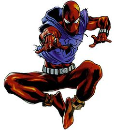 The Scarlet Spider (Ben Reilly) Marvel Vs, Marvel Dc Comics, Marvel Heroes, Spiderman Art, Amazing Spiderman, Scarlet Spider Ben Reilly, D Mark, Spider Carnage, Comic Pictures