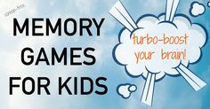Memory matching games for kids. Screen free ideas to boost brain power.