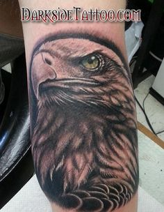 Black and Gray Bald Eagle Tattoo - Black and Gray Bald Eagle Tattoo - Bald Eagle Tattoos, I Tattoo, Gray Tattoo, Black And Grey Tattoos, Tatoos, Body Art, Piercings, Google Search, Grey Tattoo