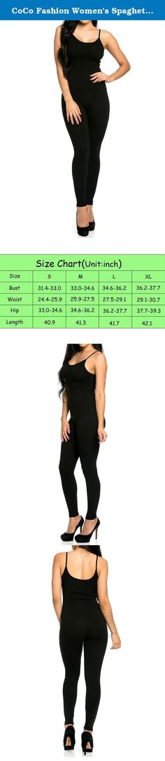 """CoCo Fashion Women's Spaghetti Strap Sleeveless Unitard Tank Jumpsuit Romper (X-Large, Black). The story of brand: """"CoCo fashion"""" are a professional factory specializing in things of fashion. Our main products are Evening dresses, Bandage dress,Party dress,Lady dress,Cocktail dress, Prom dress,Formal dresses,jacket with top quality and fair factory price.Our customers are from all over the world,especially from UK,USA,FRANCE.ITALY..."""